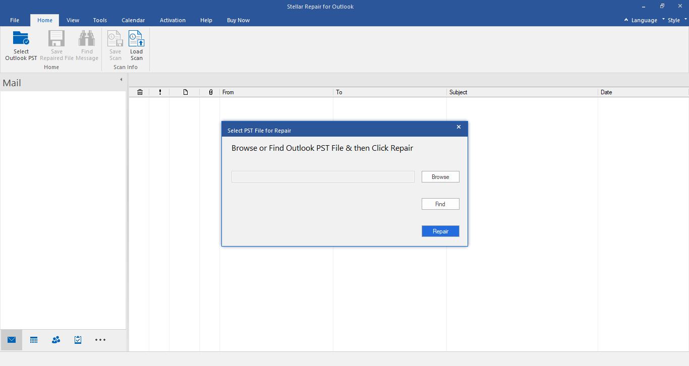 Stellar Repair for Outlook Professional full screenshot